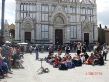 Children, band, and basilica