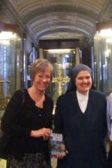 Christine with Sr Emanuela, S.John Lateran