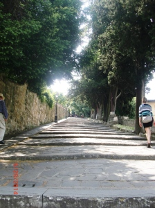 Climbing the Stations of the Cross to San Miniato Basilica