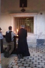 Praying before Christ's Column of Flagellation