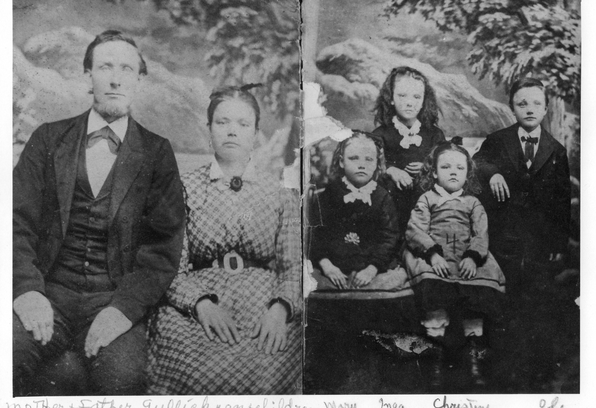 Gulicksons.Christine (Nelson) Gullickson, lower right
